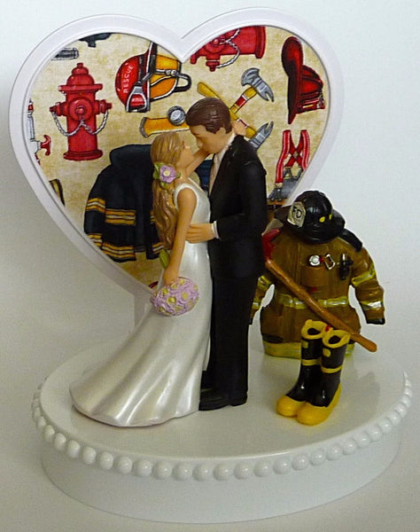 Fun Wedding Things firefighter wedding cake topper fireman groom's cake top