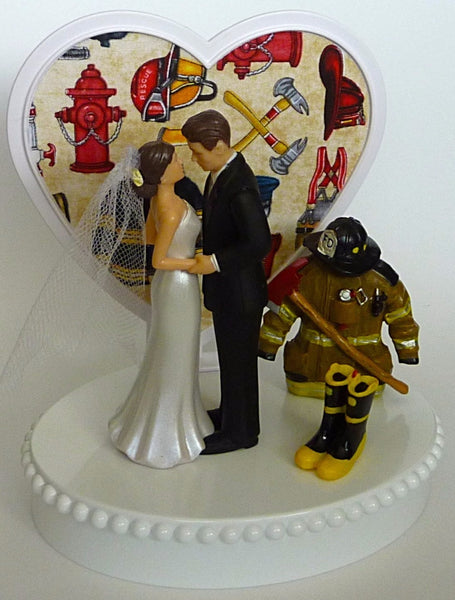 Unique wedding cake topper Fun Wedding Things fireman firefighter