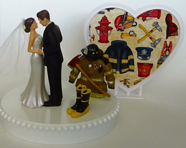 Original wedding cake topper Fun Wedding Things groom's cake top unique fireman