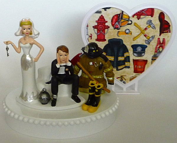 Fireman cake topper Fun Wedding Things