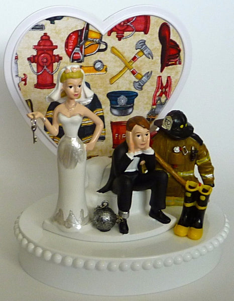 Fireman wedding cake topper Fun Wedding Things
