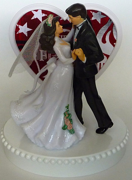Fireman wedding cake topper Fun Wedding Things firefighter fire department bride groom dancing pretty