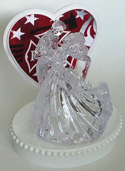 Clear couple dancing bride groom Fun Wedding Things cake topper groom's top