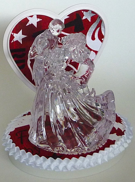 Red firefighter wedding cake topper Fun Wedding Things clear couple first dance bride groom