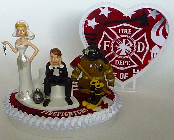 Fire department cake topper Fun Wedding Things fireman firefighter