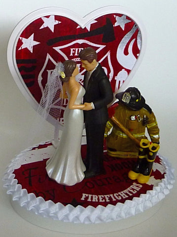 First responder wedding cake topper fireman firefighter