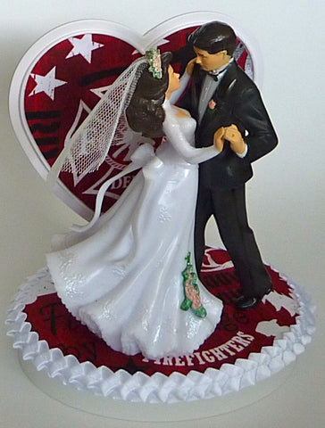 Fire department wedding cake topper Fun Wedding Things fireman bride groom fire