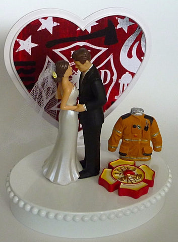 Maltese cross cake topper firefighter Fun Wedding Things fireman groom's cake top