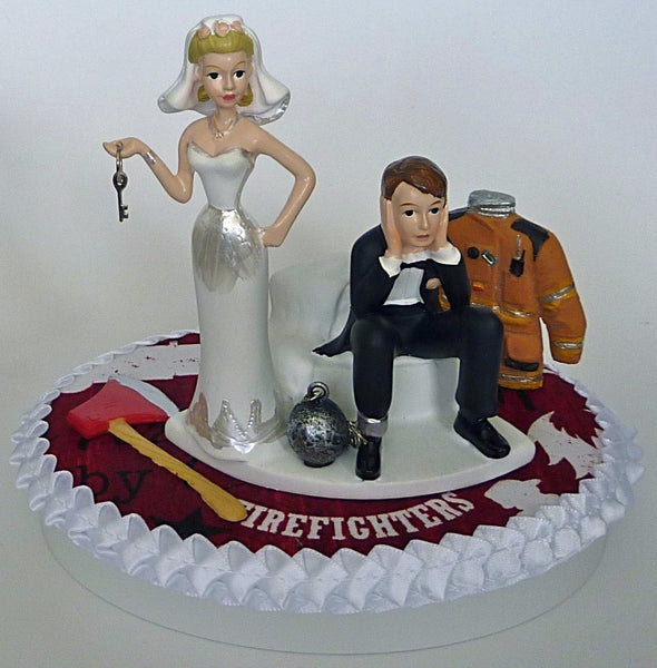 Fire wedding cake topper FunWeddingThings.com