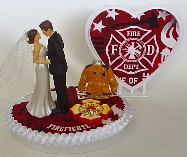 Firefighter groom's cake top Fun Wedding Things fireman fire department bride