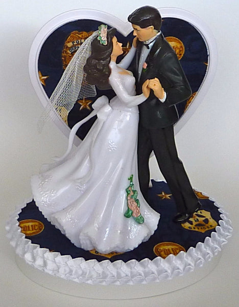 FunWeddingThings.com policeman wedding cake topper police officer department