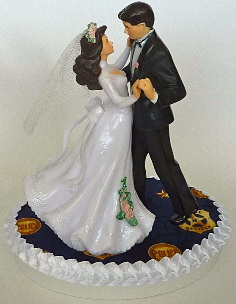 Wedding Cake Topper - Police Department Officer Policeman Themed ...