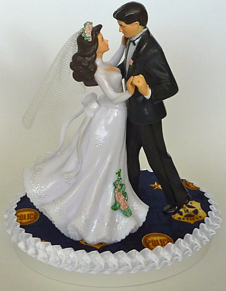 Policeman wedding cake topper police department Fun Wedding Things police officer cake top dancing