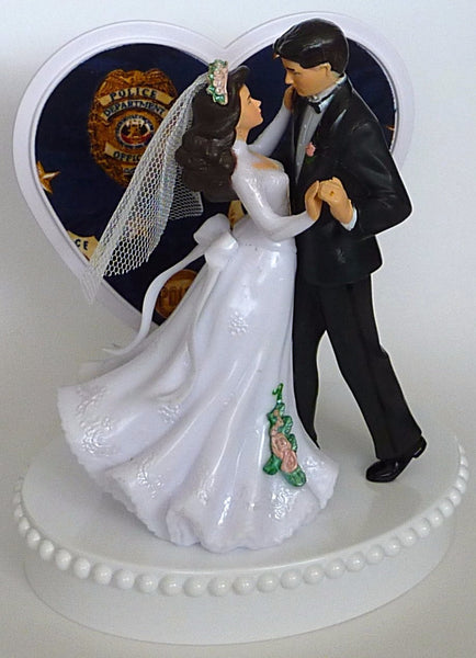 Policeman cake topper wedding Fun Wedding Things police officer dept bride groom dance