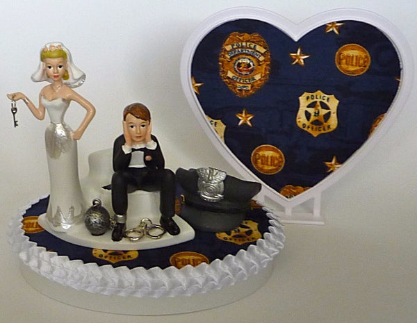 Police officer cake topper wedding Fun Wedding Things bride groom