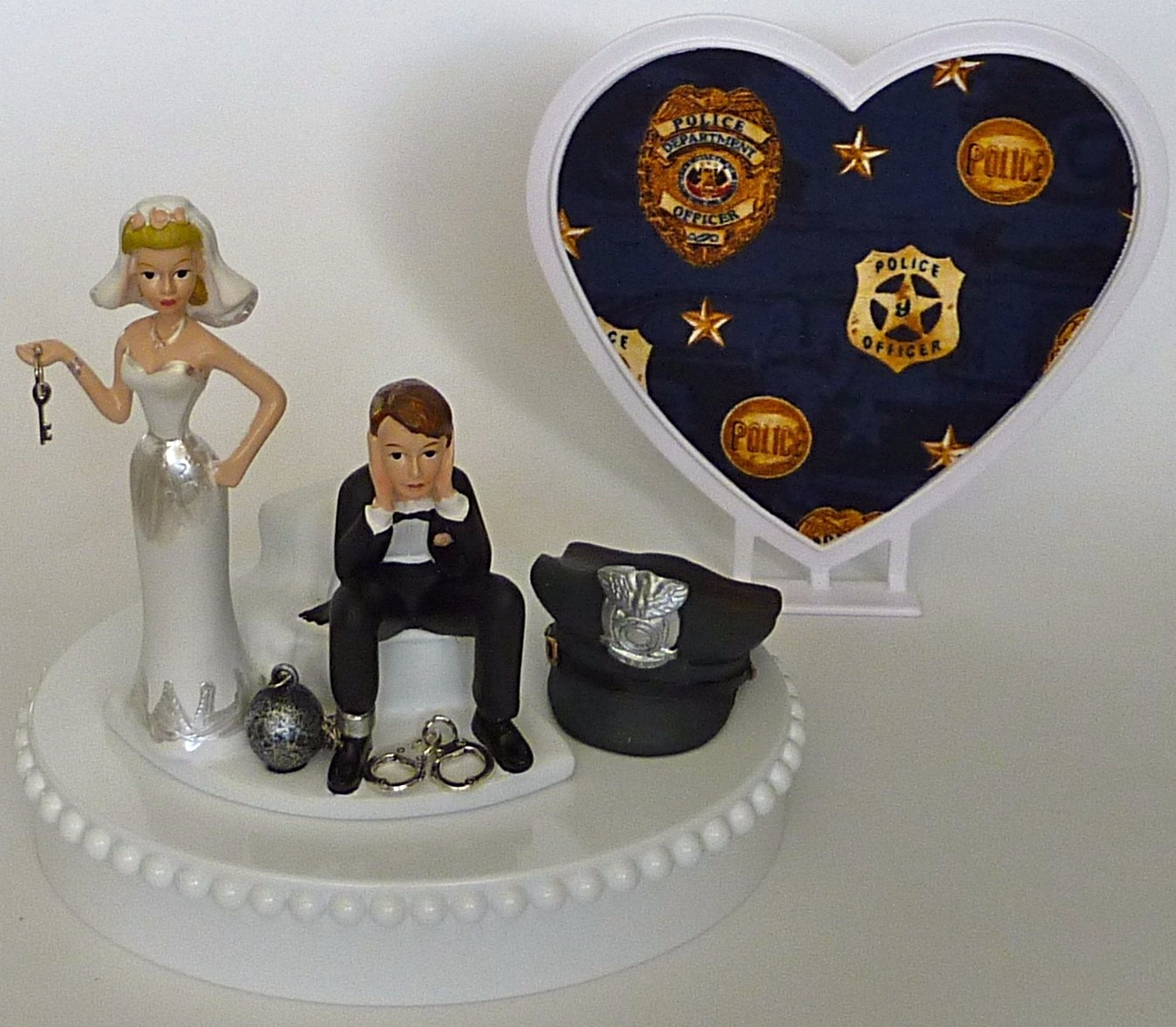 Ball and chain wedding cake topper Fun Wedding Things humorous funny