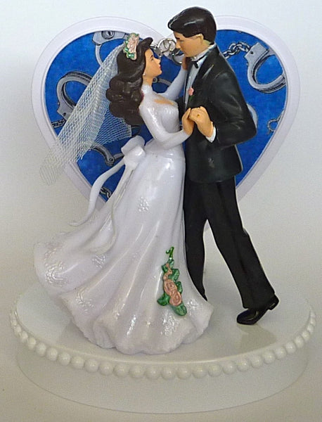 Handcuffs wedding cake topper Fun Wedding Things