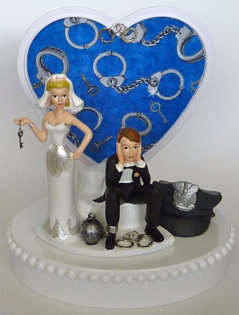Wedding Cake Topper - Handcuffs Police Officer Department Policeman ...