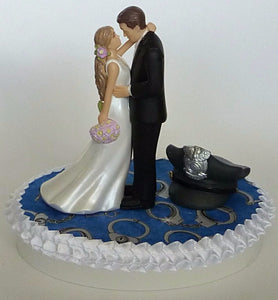Handcuffs wedding cake topper
