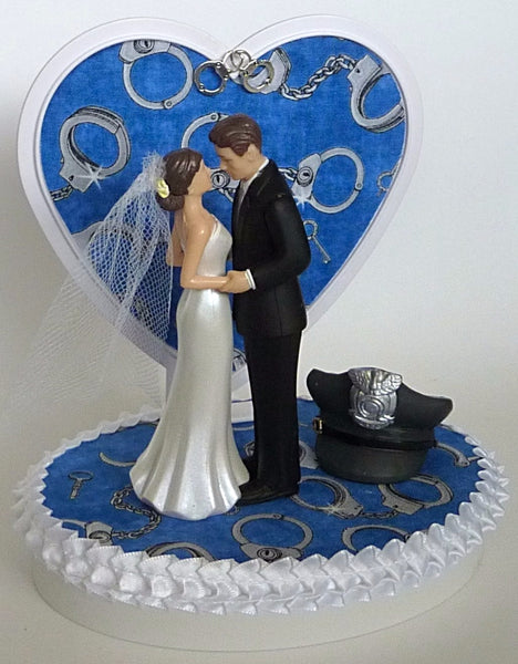 Police officer wedding cake topper groom's cake top