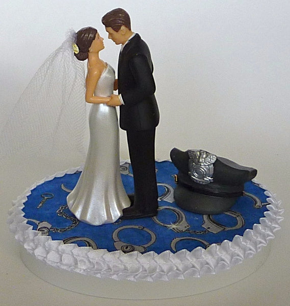 Policeman wedding cake topper groom's cake top