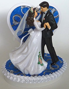 Police department wedding cake topper