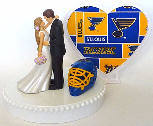 Fun Wedding Things hockey wedding cake topper St. Louis Blues