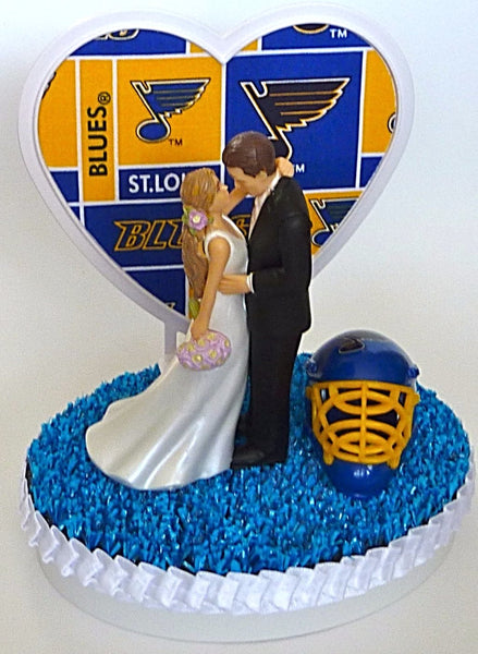 Groom's cake topper St. Louis Blues hockey