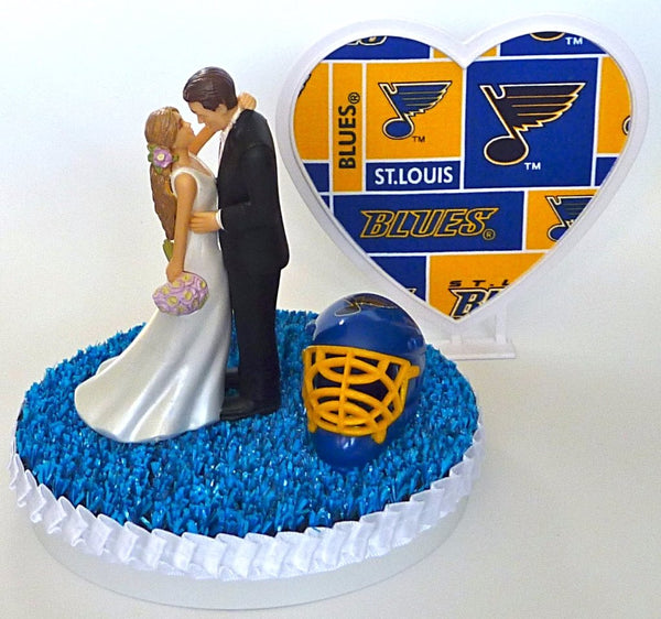 Bridal shower gift idea St. Louis Blues wedding cake topper reception bride groom Fun Wedding Things