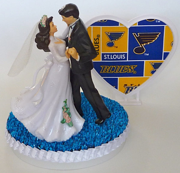 Saint Louis Blues wedding cake topper
