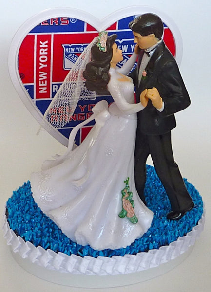 New York Rangers wedding cake topper