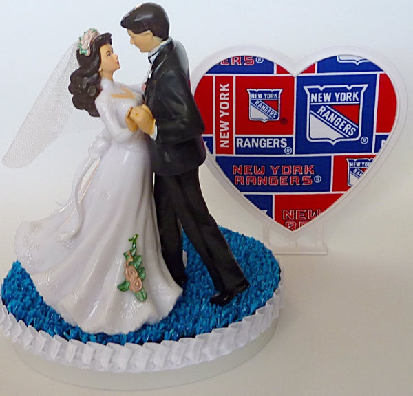 NY Rangers hockey wedding cake topper