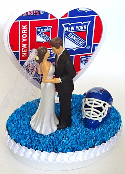 New York Rangers wedding cake topper hockey