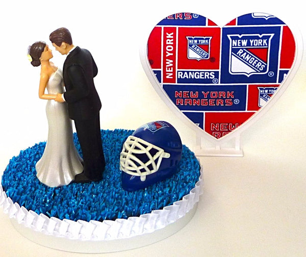 NY Rangers wedding cake topper hockey