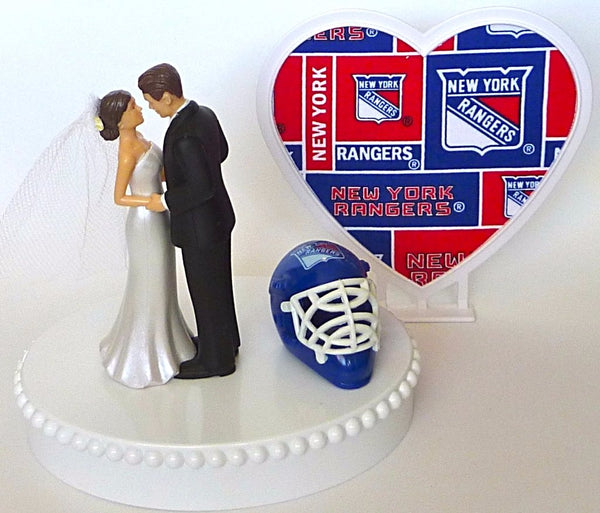 NY Rangers hockey cake topper wedding bride groom FunWeddingThings.com