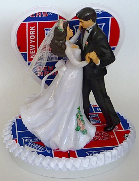 Rangers hockey wedding cake topper Fun Wedding Things groom's cake top