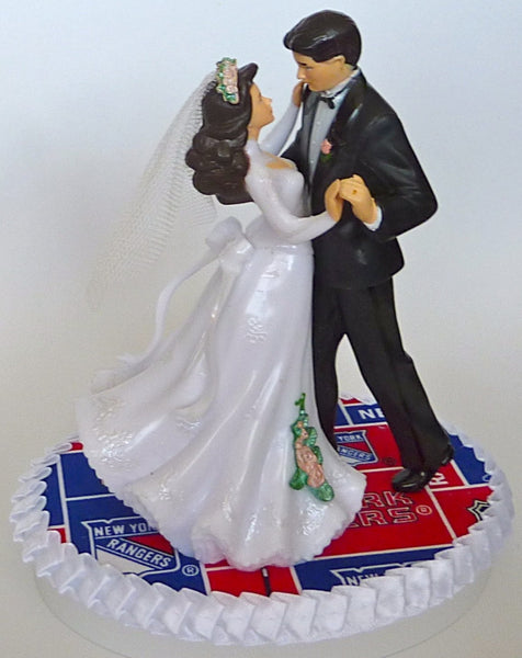 Hockey wedding cake topper FunWeddingThings.com NY Rangers