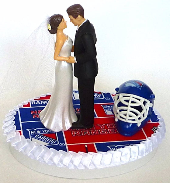 Rangers wedding cake topper New York hockey NY