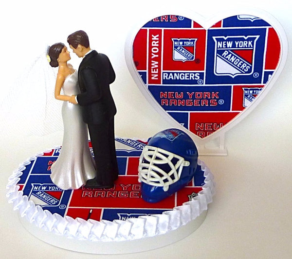 Groom's cake topper NY Rangers hockey bride pretty heart
