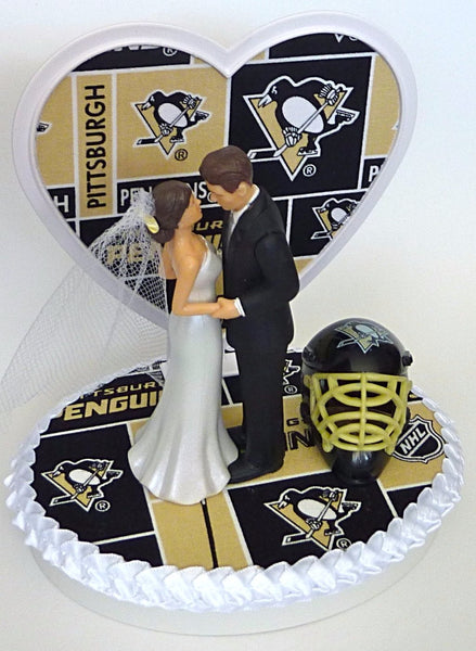 Pittsburgh wedding cake topper Penguins hockey