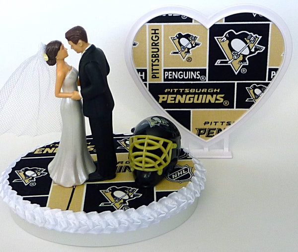 Penguins wedding cake topper Pittsburgh hockey