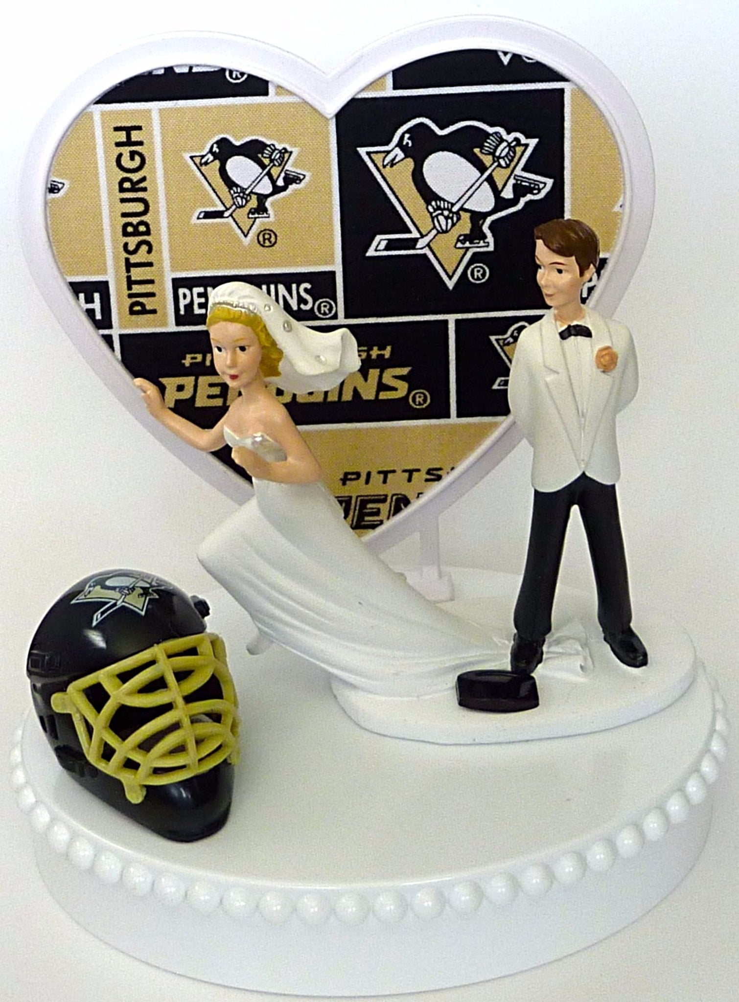 Funny Pittsburgh Penguins wedding cake topper