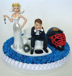Chicago Blackhawks wedding cake topper