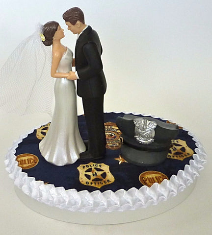 Police department wedding cake topper Fun Wedding Things bride and groom
