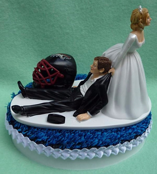 Wedding Cake Topper - Arizona Coyotes Hockey Themed