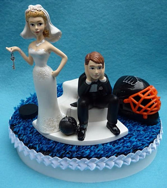 Wedding Cake Topper - Philadelphia Flyers Hockey Themed Key