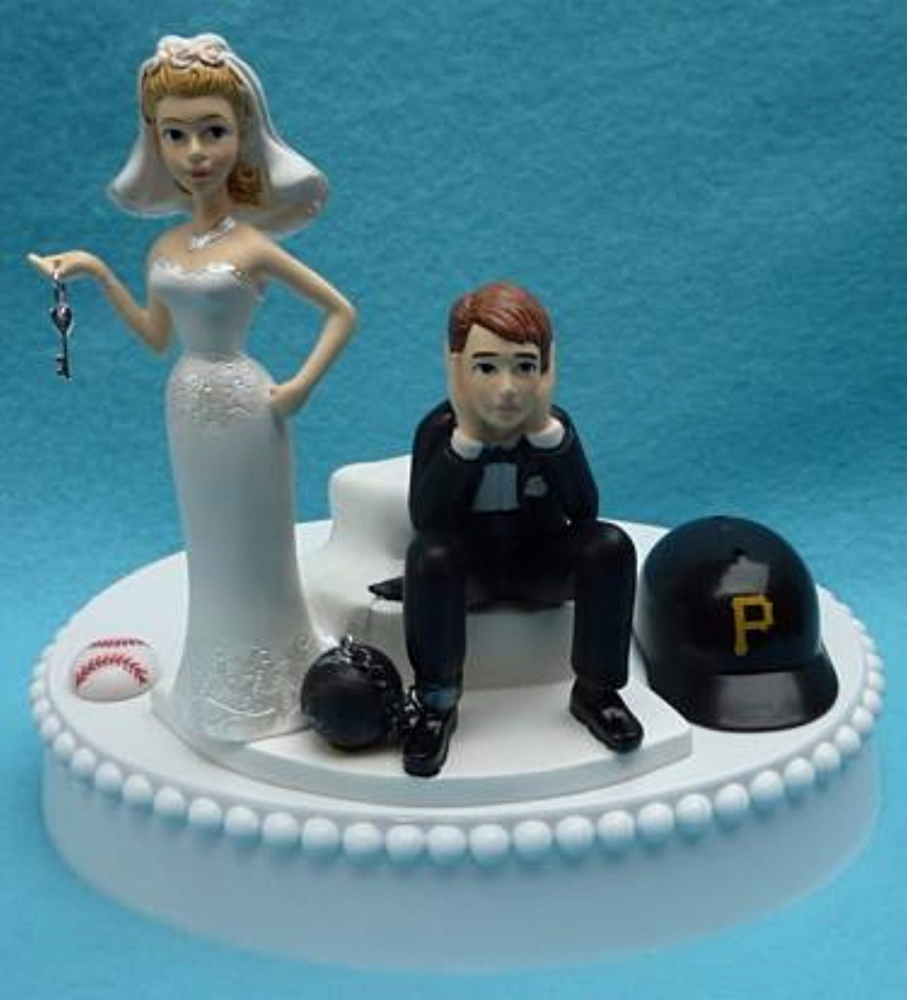 Wedding Cake Topper - Pittsburgh Pirates Baseball Themed Key