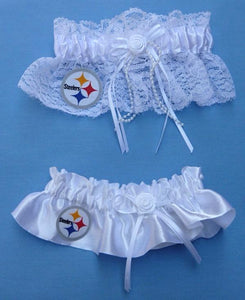 Pittsburgh Steelers Wedding Garters NFL Football Bridal Garter Set Reception Toss