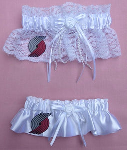 Portland Trail Blazers Garter Wedding Garters Bridal Set Reception NBA Basketball Sports Fans Fun Toss Keep
