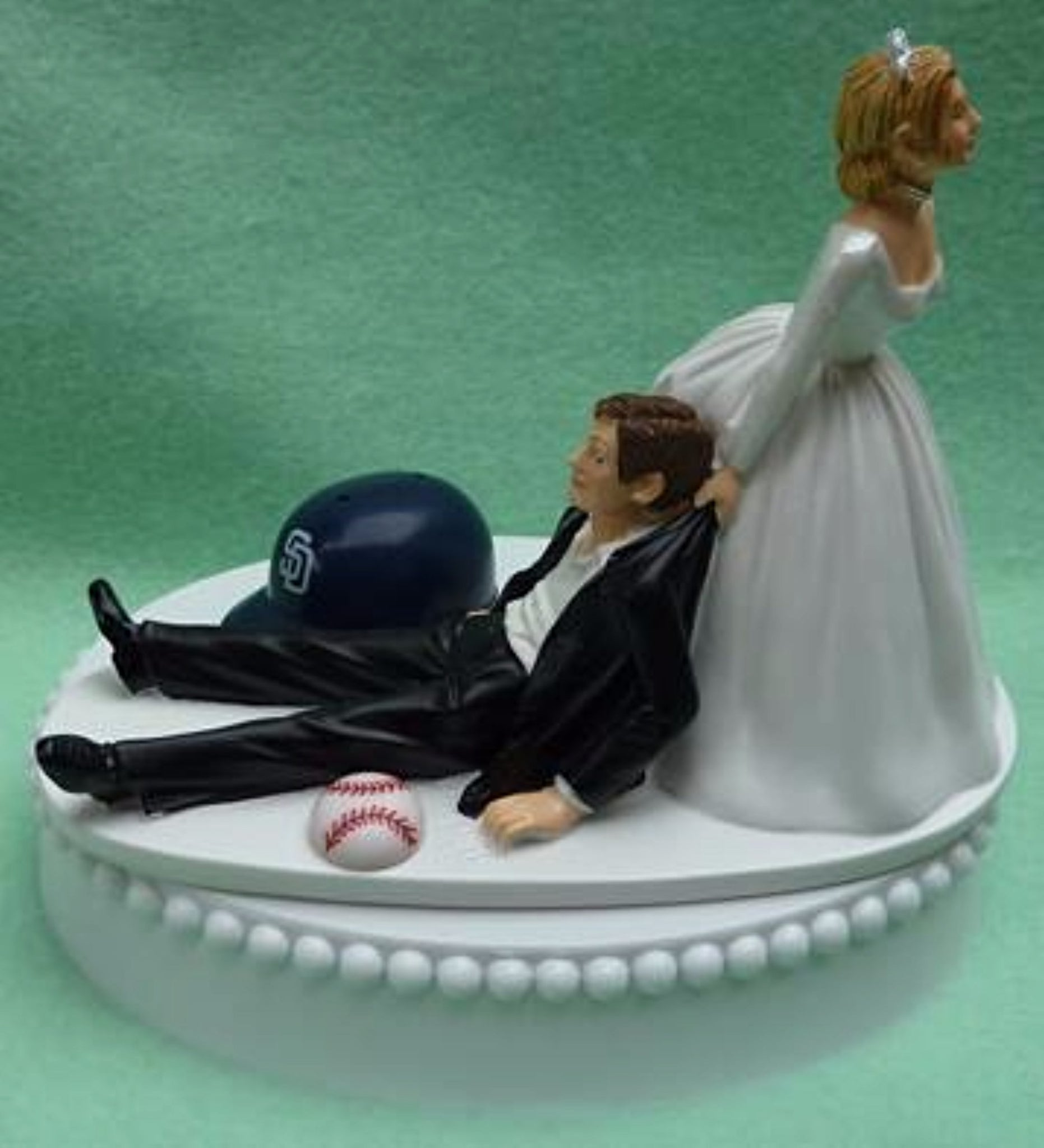 Wedding Cake Topper - San Diego Padres Baseball Themed SD